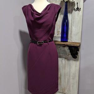 Banana Republic purple cowl neck dress